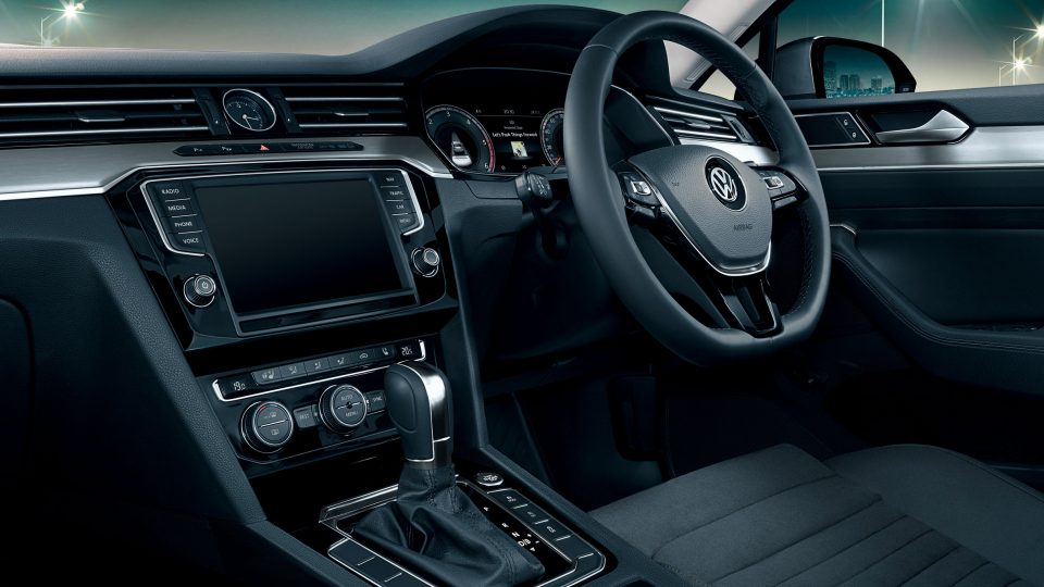 Luxurious Passat interior